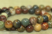 8mm Red Creek Jasper Beads