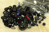 1/2 Pound of assorted funky Black glass beads!