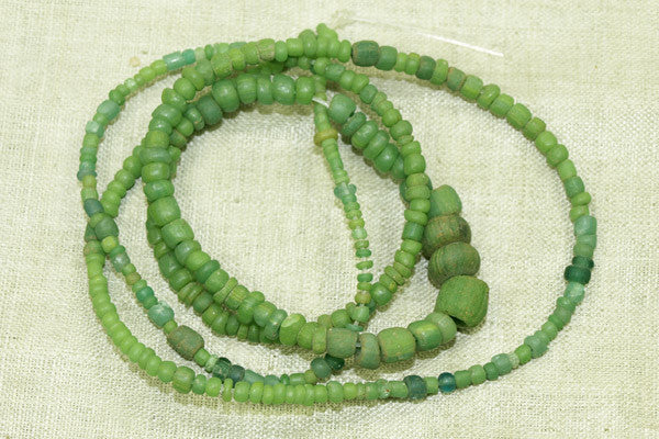 Ancient Green Tradewind Glass Beads