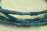 Ancient dark Aqua Blue Tradewind Glass Bugle Beads