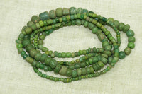 Long Strand of Ancient Green Tradewind Beads