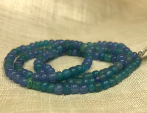 Ancient Aqua Blue Tradewind Glass Beads