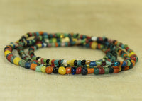 Old Tradewind Glass and Ceramic Beads, 2-4mm mixed colors
