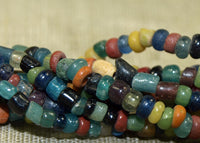Old Tradewind Glass and Ceramic Beads, 2-3mm mixed colors
