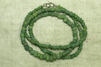 Lovely Ancient Green & chartreuse Tradewind Glass Beads