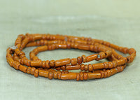 Orange Ceramic and Glass Tradewind Beads