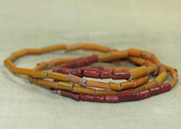 Orange and Brick Red Ceramic and Glass Tradewind Beads