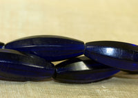 Strand of Large, Vintage Czech Cobalt Glass Beads