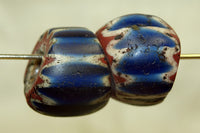 Pair of rare 7-Layer Venetian Chevron Beads from the 1600s