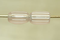 Set of ten Pristine Pink Venetian Gooseberry Glass Beads