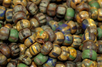Hank of Small Picasso finished Vintage Czech Beads
