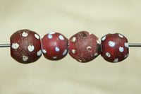 Venetian Red Glass Eye Bead