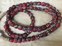 Strand of Fancy Flower Venetian Glass Beads!