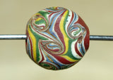 Antique Multicolor Tabular Bead from the 1800s