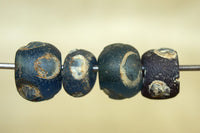 Roman Eye Beads, blue Glass