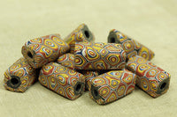 Set of Chunky Mille fiore Glass Beads