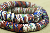 Wild and Chunky Millefiore Glass Bead