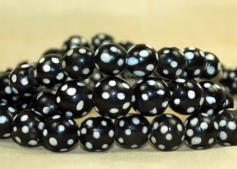 "Strand of Antique ""Skunk Beads"""