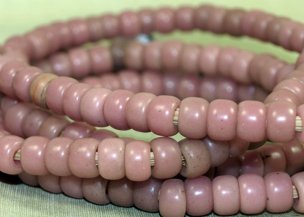 Extra LONG strand of Pink Glass Padre Beads