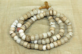 Grungy White Padré Beads from Ethiopia