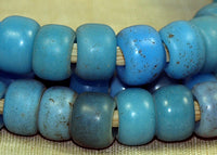 Blue Glass Padre Beads, strand
