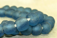 Recycled Blueberry Glass Beads from Ghana