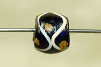Royal blue with stripes Venetian Bead