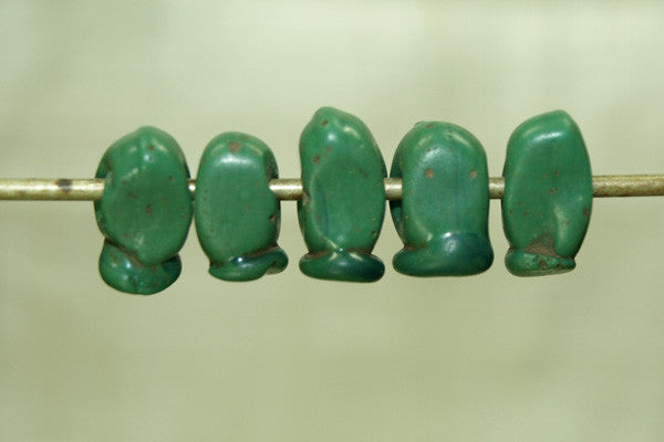 Antique Green Venetian Trade drop Bead
