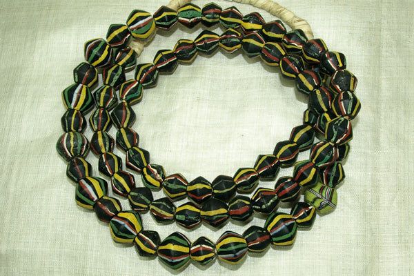Graduated Strand of Black King Beads