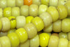 Bright Yellow Glass Padre Beads, strand