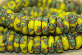 New Red, green, & Yellow Eja Beads from Ghana