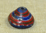 Conical Shape Striped Kiffa Bead