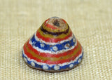 Conical Shape Striped with Dots Kiffa Bead