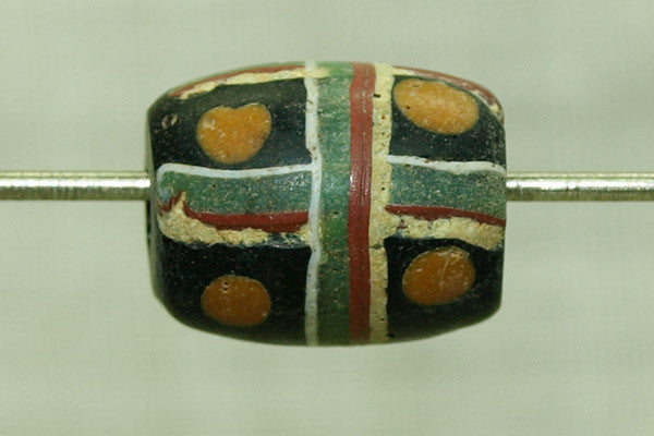 Antique Venetian Cross and Eyes Bead