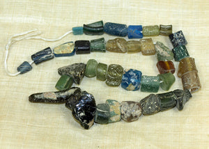 Strand of Rare Colors of AncientRoman Glass