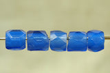 Vibrant Russian Blue Faceted Glass Bead