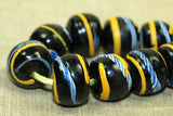 Venetian black Glass Bead from early 1900s