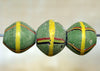 Large Antique Green King Bead