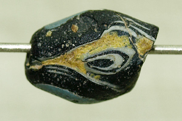 Ancient Roman Glass Bicone Eye Bead