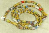 Large Strand of Ghana Glass Sand Beads