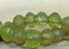 Strand of Antique Jonquil/Yellow Vaseline Beads