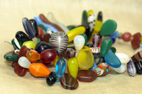 Mad assortment of Czech pressed glass African trade beads