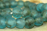 Light Teal Glass Beads from Ghana