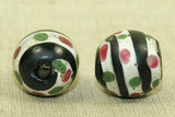 Cool striped Venetian Glass Bead with Dots