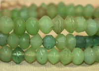 Small Seafoam Green Vaseline Beads