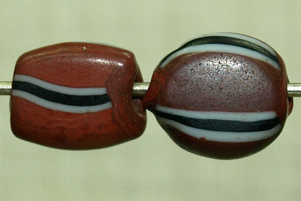 Unusual Antique Small Tabular Beads
