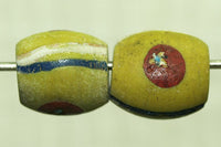 Antique Venetian Yellow Eye Bead
