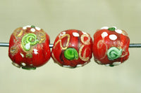 Antique Fancy red Venetian Bead from the 1920s