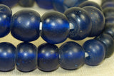 Antique cobalt Blue Large Dogon Beads