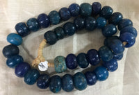 Antique Deep Blue Large Dogon Beads